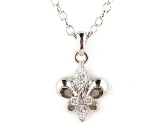 Chunky Fleur de lis- Silver or Gold