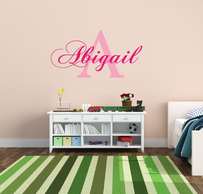 Personalized name decal nursery decor kids room by for Personalized kids room decor