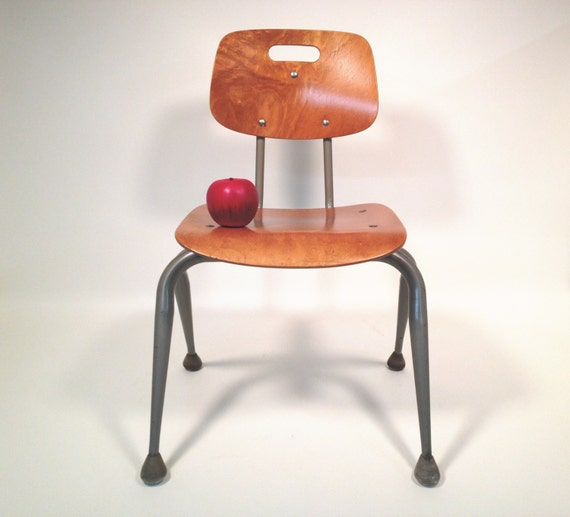 Mid Century Modern Kids School Chair by Brunswick