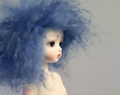 "BJD wig - Powder Blue - 4/5"" - Limited edition"