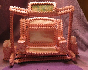 Hot Pink PICTURE FRAME Woven SWING