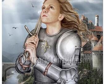 St. Joan of Arc Art Print Catholic Patron Saint of France #4106