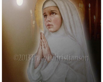 Blessed Imelda Lambertini 8x10 Art Print, Catholic Patron Saint of First Communicants #4006