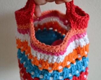 Colorful bag - CROCHET PATTERN / Kleurig tasje HAAKPATROON