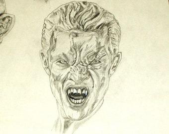Spike Vampire Print