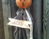 Pumpkin head Halloween doll