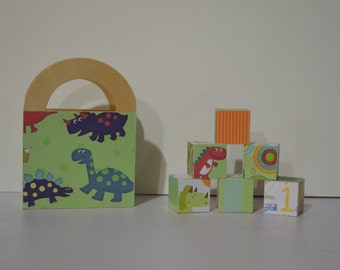 Ready to Ship--Boy Style Blocks