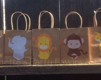 Jungle/Safari Party Favor Bags Birthday Party Baby Shower