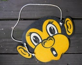 Paper Monkey Mask. Restaurant Toy for Children. Chimp Mask. VINTAGE  Paper Ephemera