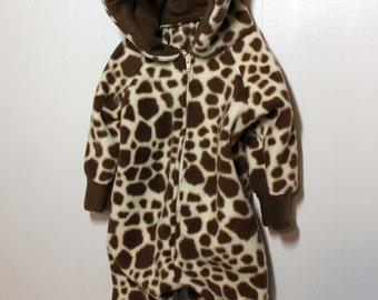Giraffe Fleece Baby Costume
