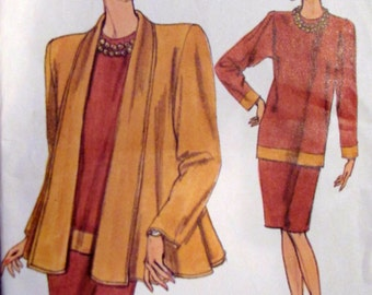 Vogue 7860, Misses Petite Jacket Top and Skirt Sewing Pattern, Sizes, 8, Size 10 and Size 12, Uncut