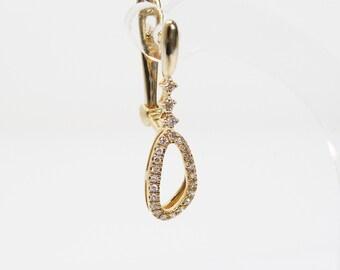 Gold Drop earrings. Drop Diamond Earrings. 14k Gold Diamond Earring (e24567-1). Wedding Earrings, Diamond Jewelry, Bridal Accessories