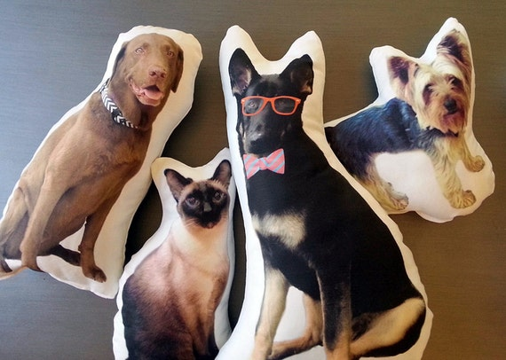 Custom pet photo pillow personalized pet pillow college like this item negle Images