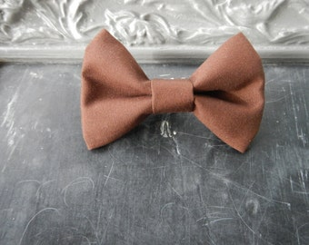 Baby Boy Toddler clip-on bow tie Brown