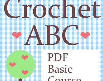 Instant Download - Crochet Basic Course - PDF No. 50 -  Crochet ABC