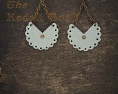 Light Blue Paper Earrings-Paper Bead Jewelry-Light-Weight Earrings-Eco Jewelry-Bybeep.
