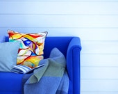 Silk Pillow with Original Watercolor Pattern (Colors)