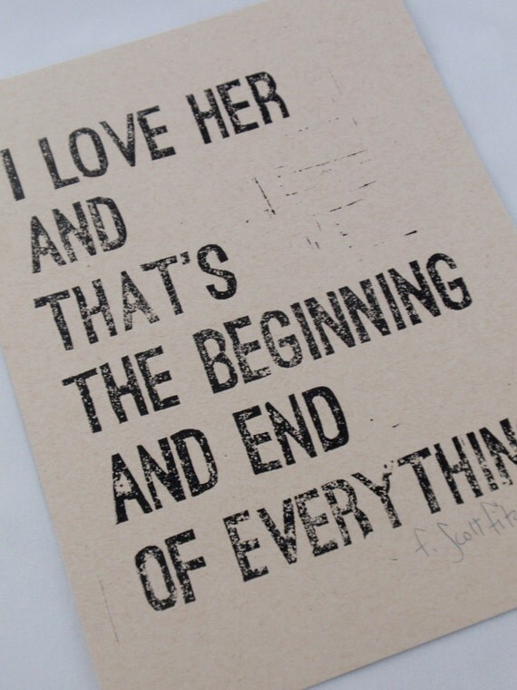 F Scott Fitzgerald Quotes I Fell In Love
