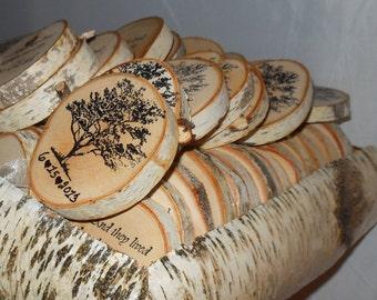 Rustic Wedding Birch Favor Box