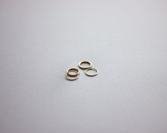 one 14k yellow gold filled endless cartilage hoop earring / gauge sizes