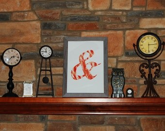 Orange Ampersand Poster & Print 13x19 Picture New P03 Home Deor Decoration 11x17 8x10 Wall