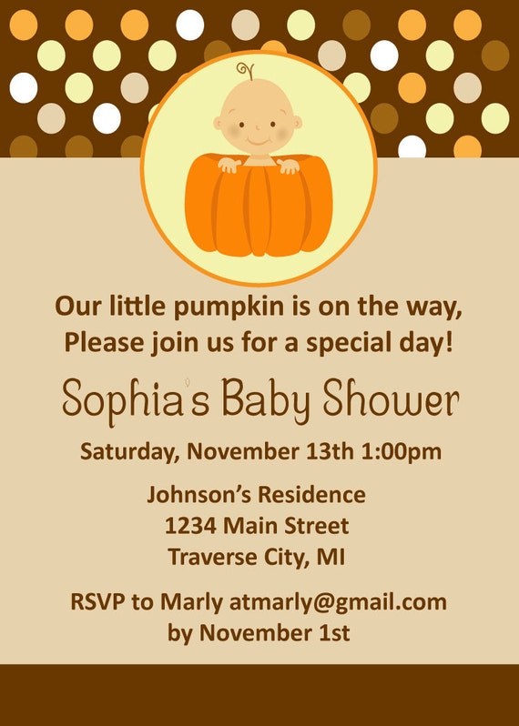 Fall Themed Baby Shower Invitations is an amazing ideas you had to choose for invitation design