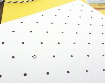 Polka Dot Smiles Letterpress Greeting Card Set of 6