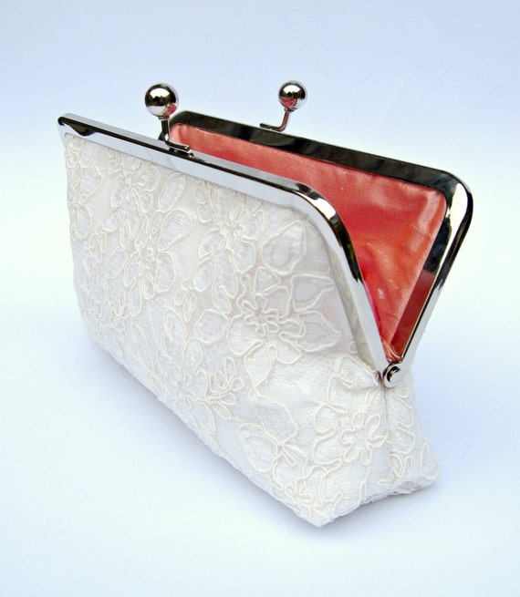 Lace Bridal Clutch Bag Ivory Wedding Clutch Cream Clutch