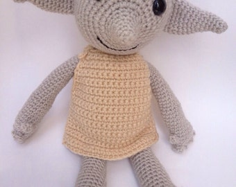 Handmade Dobby the House Elf doll - amigurumi crochet , made to order