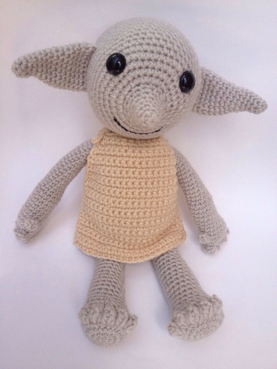 Dobby Harry Potter Amigurumi : Handmade Dobby the House Elf doll amigurumi crochet made