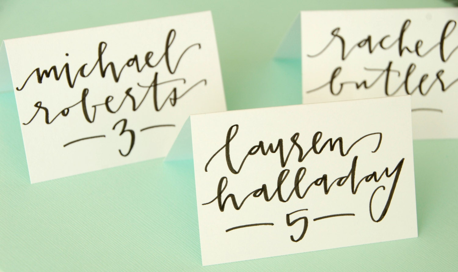 Wedding Calligraphy For Place Cards Escort By Letteredlifeshop