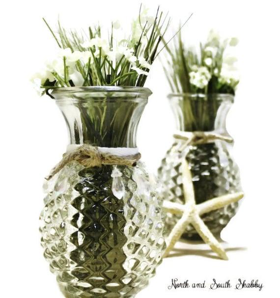 vintage vases pineapple shaped diamond point glass uniquely. Black Bedroom Furniture Sets. Home Design Ideas