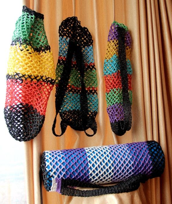 Crochet Yoga Mat Backpack,yoga