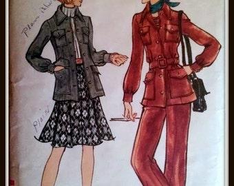 Vogue 8443  Misses' Jacket, Skirt And Pants  Size  8