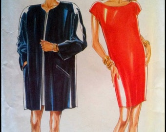 New Look Pattern 6660  Misses' Dress And Jacket Size (8-18)  UNCUT