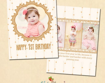 INSTANT DOWNLOAD 5x7 Birthday card template - CA240