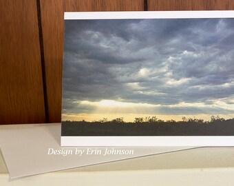 Southwestern Sunset Blank Photo Greeting Card