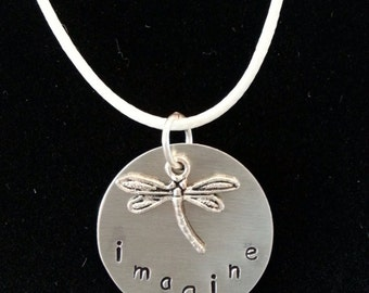 "Hand Stamped ""Imagine"" Necklace"