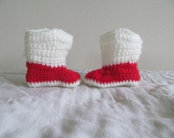 Hand Crocheted Baby Christmas Cowboy Boots- NOW AVAILABLE