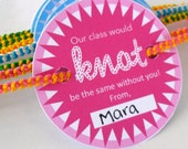 "INSTANT DOWNLOAD - Pink Friendship Bracelet Valentine Card Printable - ""Our class would knot be the same"""