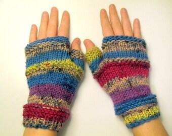 Fingerless  Gloves - Bridal Gloves - wrist- multicolor fingerless