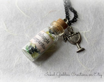 Midnight Margaritas Glass Vial Necklace, Practical Magic Inspired