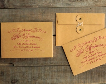Return Address Stamp for Wedding Invitations & Save the Dates. Prettier Than Handwritten! - Cosette.