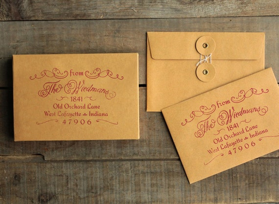 Wedding Invite Stamp: Return Address Stamp For Wedding Invitations & Save The Dates