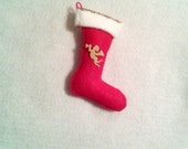 Christmas stocking, tree decoration, handmade, holidays, angel, Red, 2for8, Gift ideas, Gift tags, Party Favors, SewHeartFeltShop, Feoteam