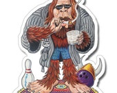Bigfoot Lebowski Vinyl Sticker