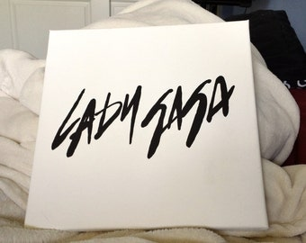 Hand Painted Lady Gaga Logo