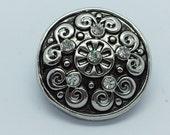 NOOSA Style Snap Bracelet Charm White Silver Chunk