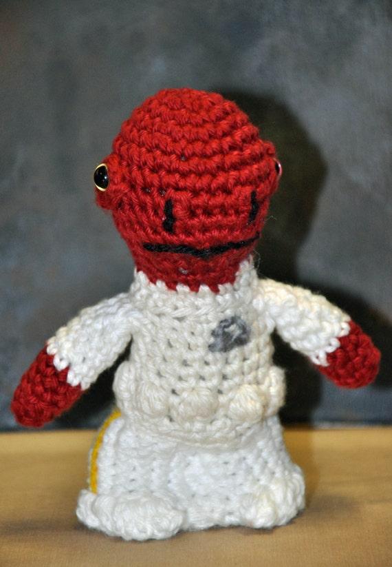 Yarn For Amigurumi : ADMIRAL ACKBAR AMIGURUMI Crochet Yarn Star Wars Doll