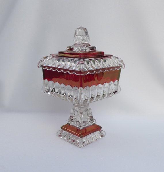 Westmoreland Wedding Bowl Candy Dish Ruby By